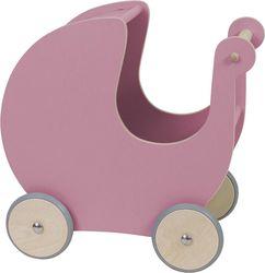 Puppenwagen - Rosa - Holz - Sebra